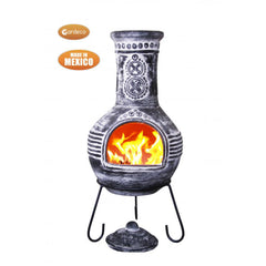 Gardeco Azteca Extra Large Anthracite Rustic Mexican Chimenea
