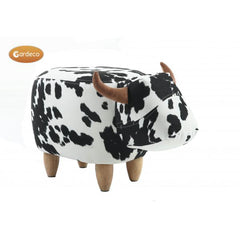 Gardeco Lulu The Black & White Cow Footstool | Product code: FS-COW-S | Barcode: 5031599047188