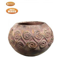 Gardeco Large Aestrel Fire Bowl In Earthy Brown Finish