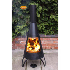 Gardeco Black Cono Steel Chimenea With Copper Coloured Mouth Rim | SKU: CONO-125-COP | Barcode: 5031599034973