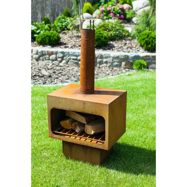 RedFire Jersey Rust Steel Outdoor Fireplace | SKU: 411819 | UPC: 8718801855546
