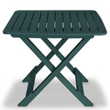 Chair From VidaXL Plastic 3 Piece Folding Bistro Set In Green Colour | SKU: 43582 | UPC: 8718475570523