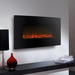 Ekofires 1120 LED Black Freestanding & Wall Mounted Electric Fire