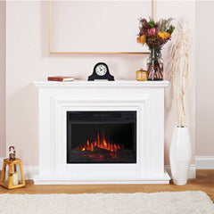 Ekofires White 1200 LED Freestanding Electric Fire Suite