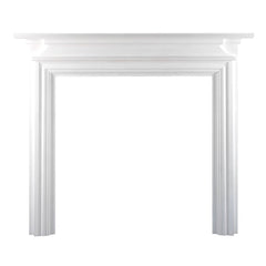 Ekofires 7020 White Painted Wooden Fireplace Surround
