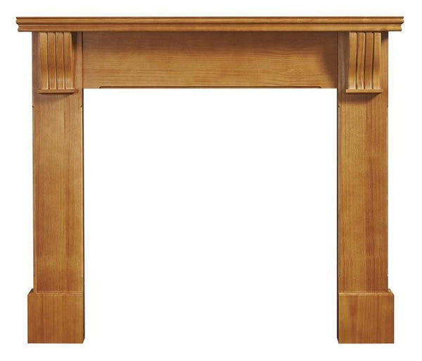 Ekofires 7040 Waxed Pine Wooden Fireplace Surround 53 Inch