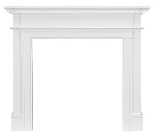 Ekofires 7050 White Painted Wooden Fireplace Surround 48 Inch
