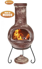 Gardeco Large Colima Mexican Chimenea In Red