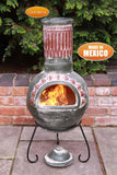 Gardeco Large Plumas Mexican Chiminea in Green