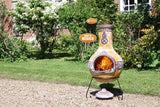 Gardeco Extra Large Azteca Mexican Chimenea In Yellow