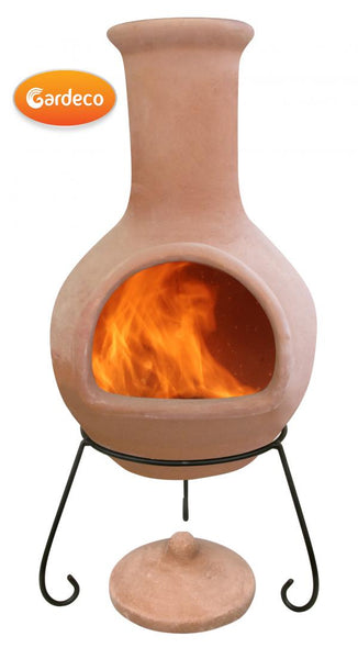 Gardeco Extra Large Colima Mexican Chimenea Natural Terracotta