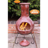 Gardeco Extra Large Colima Mexican Chiminea In Red