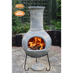 Gardeco Extra Large Colima Mexican Chiminea In Grey