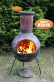 Gardeco Extra Large Plumas Mexican Chiminea In Green