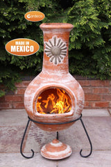 Gardeco Extra Large Sol Mexican Chiminea In Rustic Orange