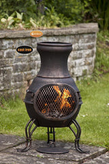 Gardeco Small Toledo Cast Iron Chiminea In Bronze
