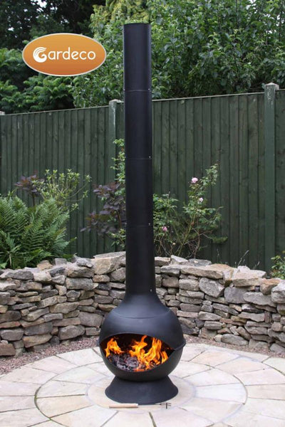 Gardeco Kaska Cast Iron And Steel Chiminea