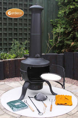 Gardeco Black Tia Chiminea Bundle