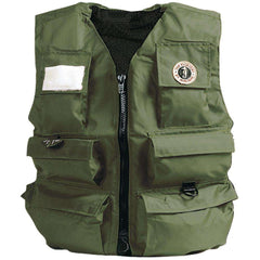 Mustang Inflatable Fisherman's Vest - Manual - SM - Olive [MIV-10-S-OL]