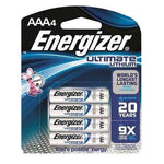 Energizer Ultimate Lithium AAA Battery 4pk L92BP