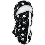 ZanHeadgear Convertible Balaclava Black and White Flag