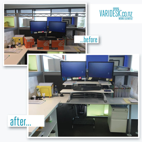 Before and After with Varidesk