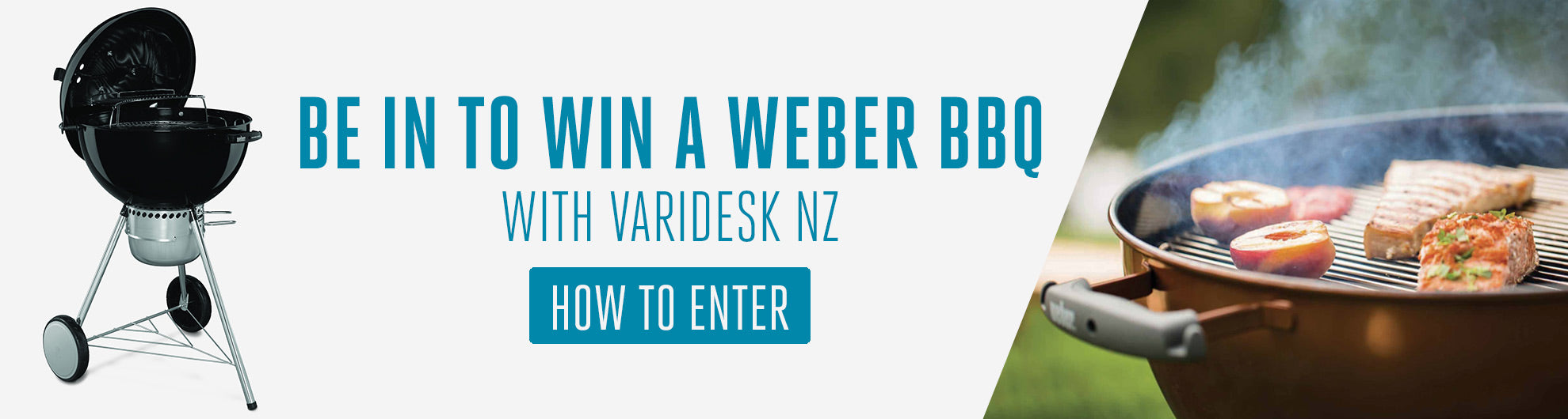 WIN A WEBER BBQ WITH VARIDESK