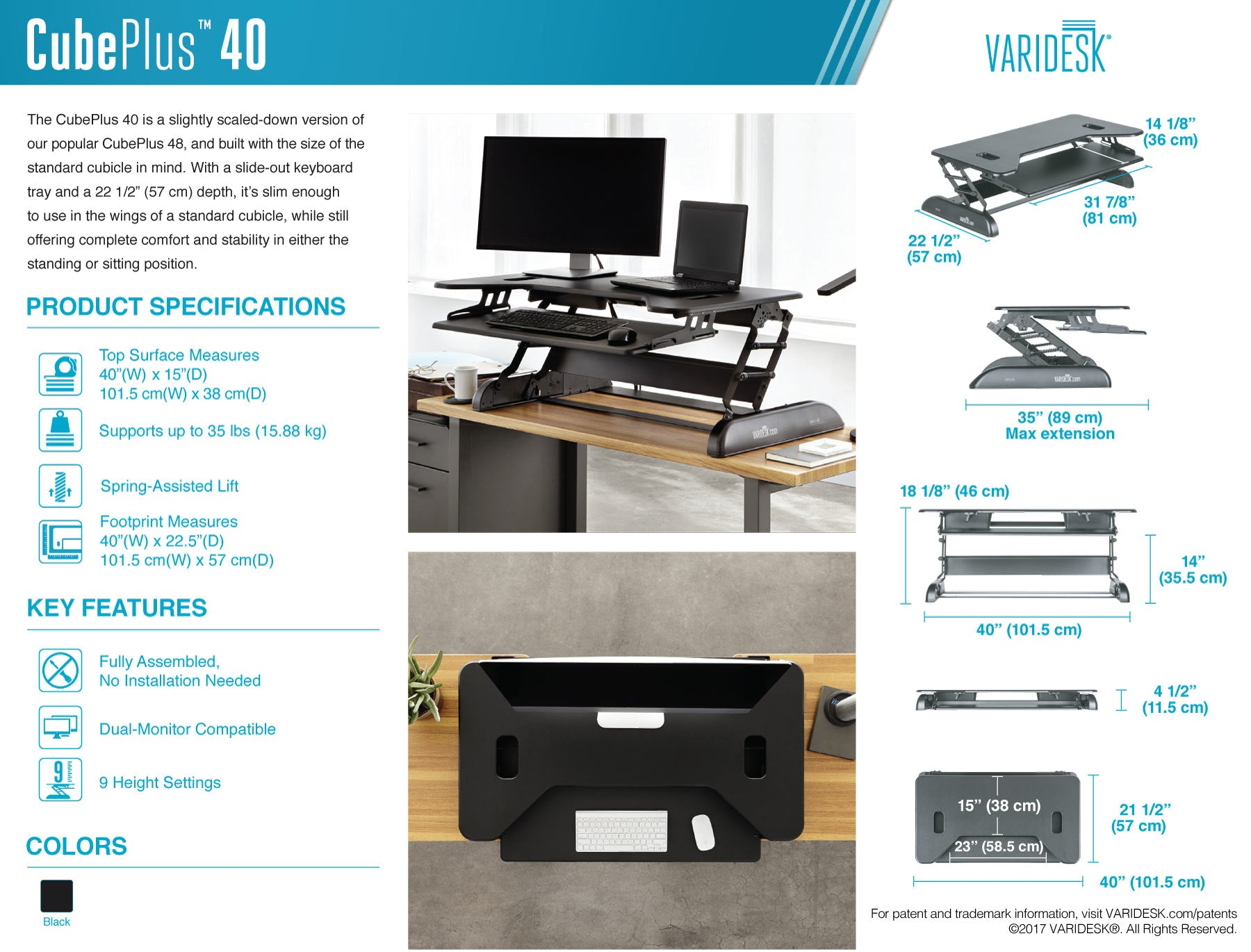 varidesk-cube-plus-40-technical-specifications