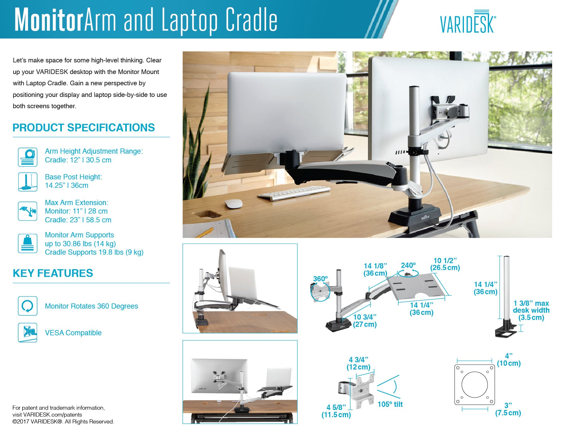 varidesk-monitor-arm-laptop-cradle