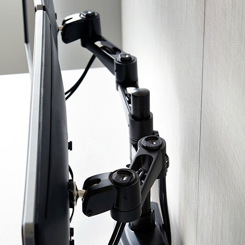 Dual Monitor Arm 180 Degree Black