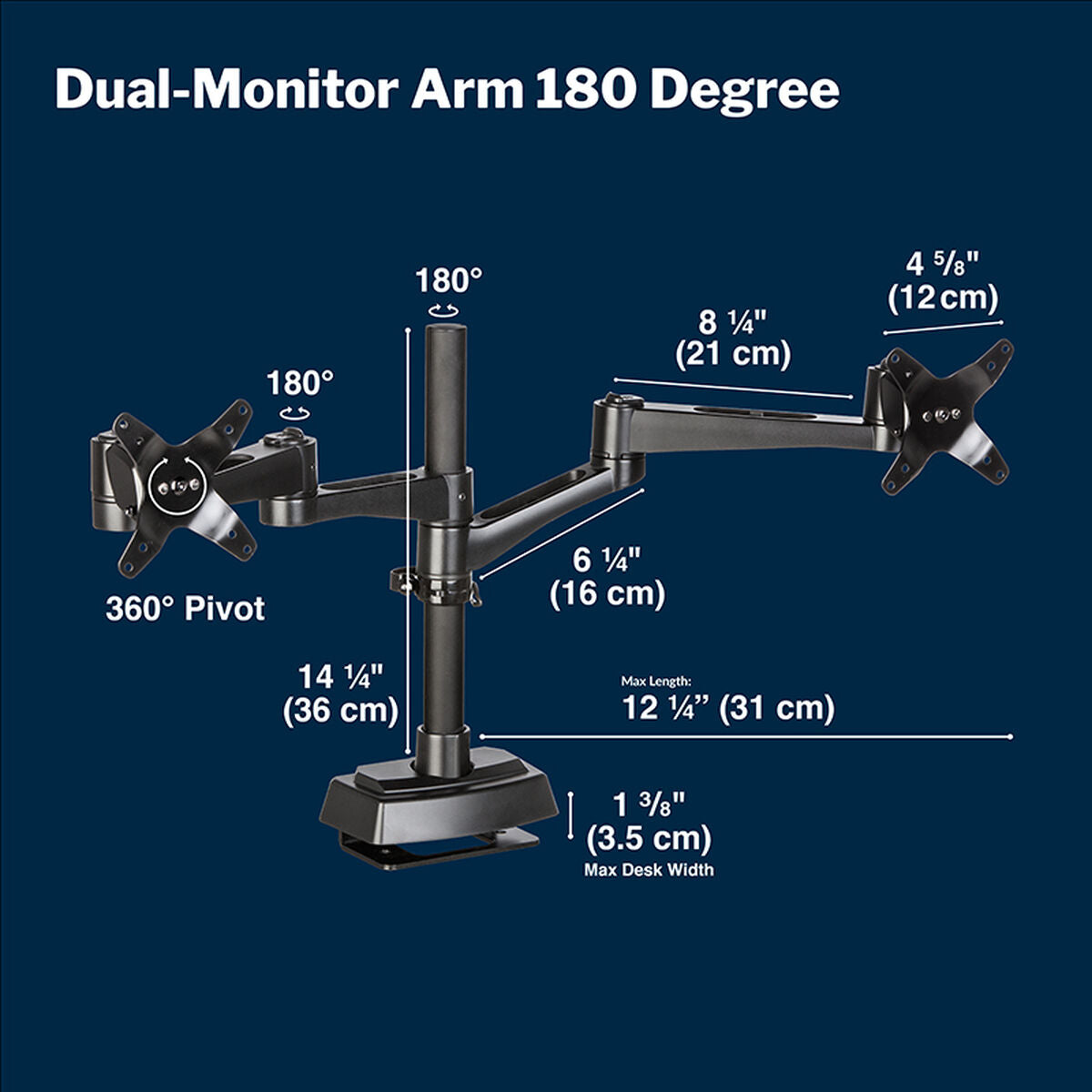 Vari Compact Monitor Arm Dimensions