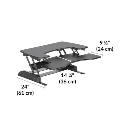 VariDesk Pro Plus 36 Black Dimensions