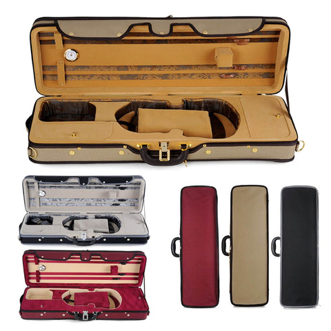 Muzip Violin Case, Full Size 4/4, Lightweight Professional Suspension Violin Case, Luxury Collection