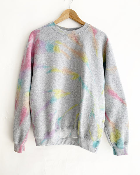 Sidewalk Chalk Rainbow Tie Dye Sweatset