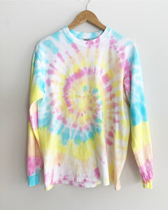"Boardwalk Spiral Tie Dye Long Sleeve Tee ""Size Men's M"""
