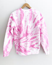 "Load image into Gallery viewer, Hot Pink Spiral Tie Dye Sweatshirt ""Size Men's S"""
