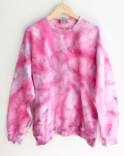 Bubblegum & Gray Tie Dye Sweatshirt