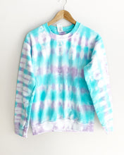 "Load image into Gallery viewer, Mermaid Tie Dye Sweatshirt ""Size Men's S"""