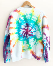 "Load image into Gallery viewer, Nebula Rainbow Tie Dye Sweatshirt ""Size Mens M"""