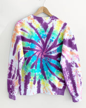 "Load image into Gallery viewer, Purple Rainbow Haze Tie Dye Sweatshirt ""Size Men's M"""