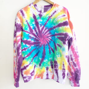 "Purple Rainbow Haze Tie Dye Sweatshirt ""Size Men's M"""