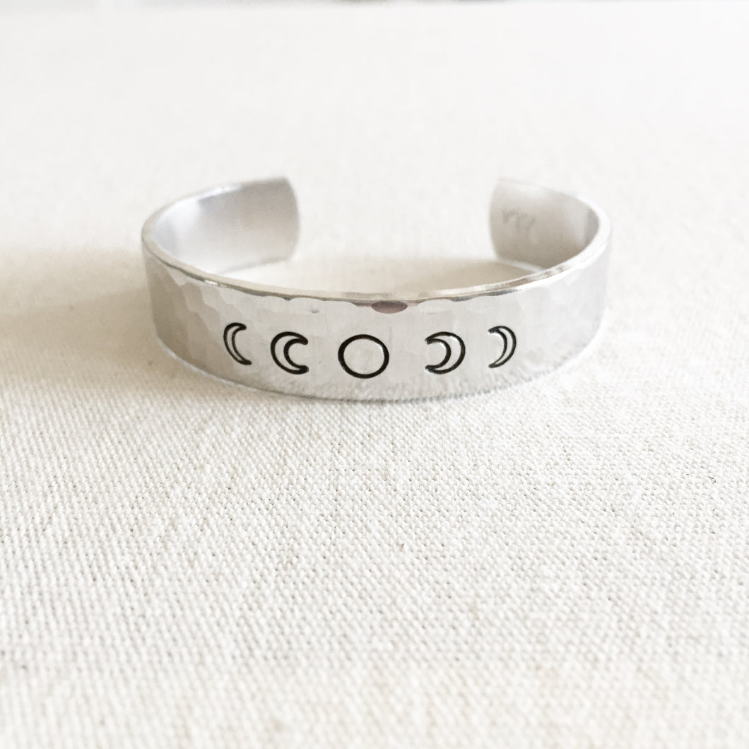 Moon Phases Bracelet Cuff
