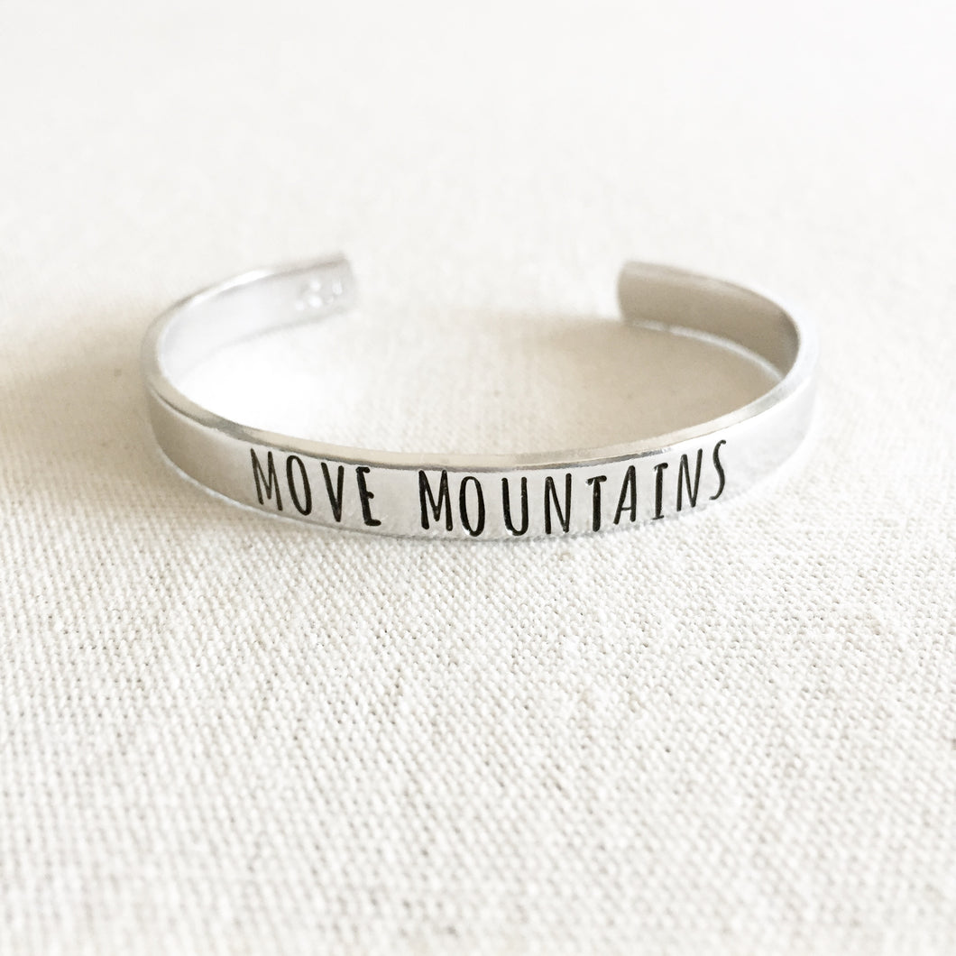 Move Mountains Bracelet Cuff