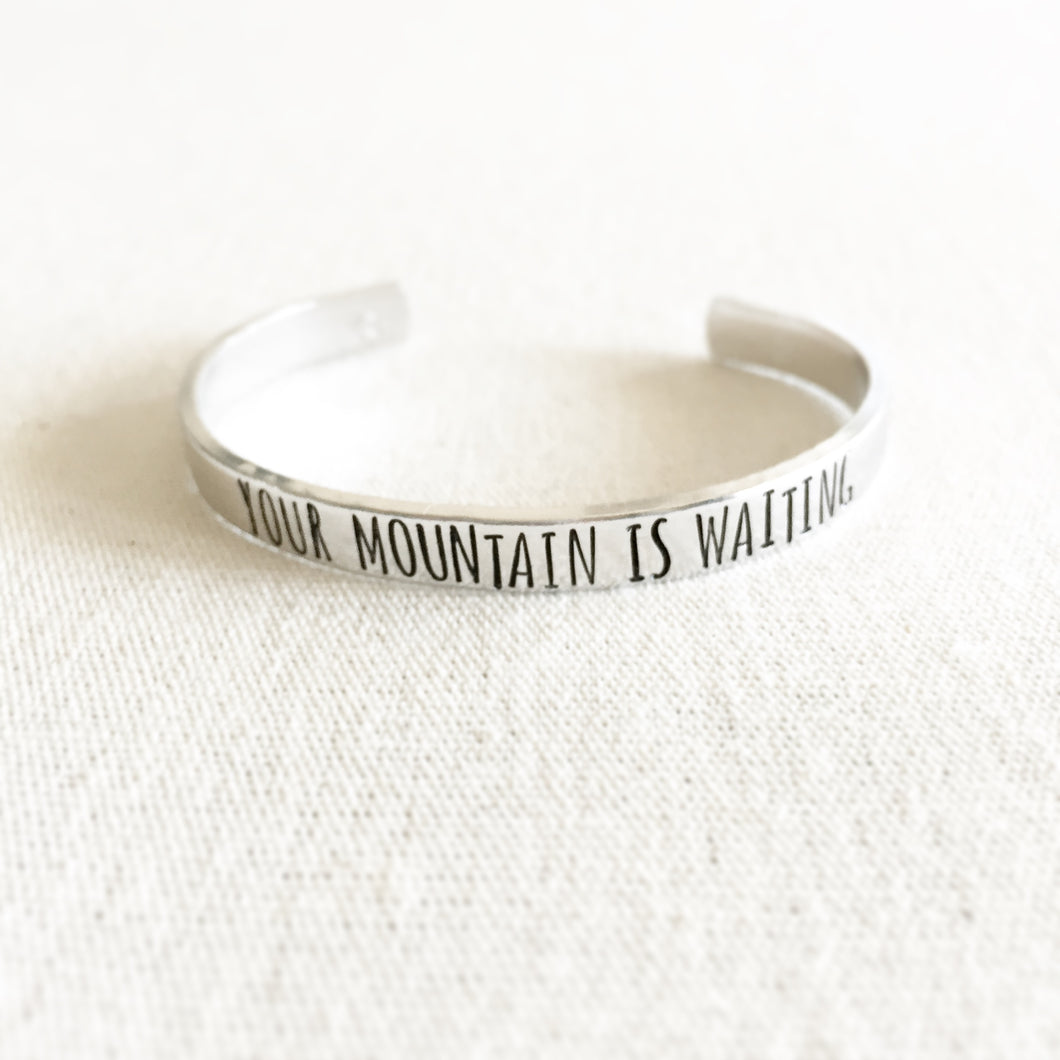 Your Mountain Is Waiting Bracelet Cuff