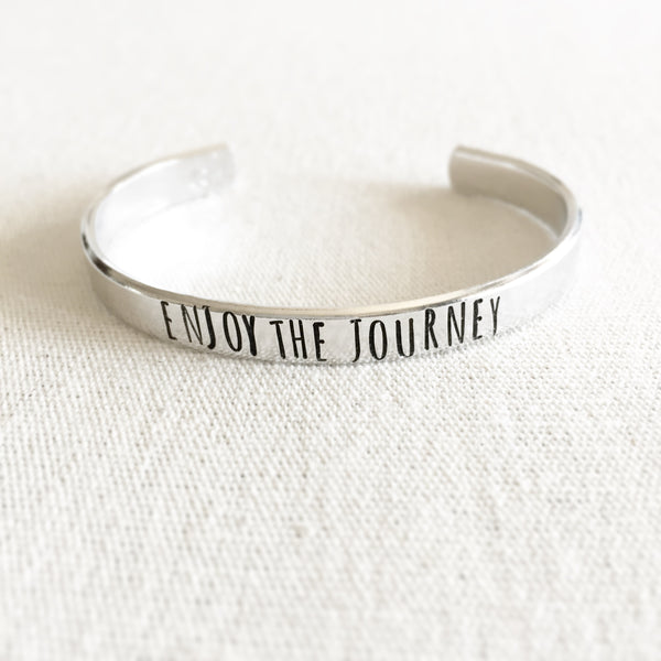 Enjoy The Journey Bracelet Cuff