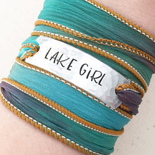 Load image into Gallery viewer, Lake Girl Silk Wrap Bracelet BC38