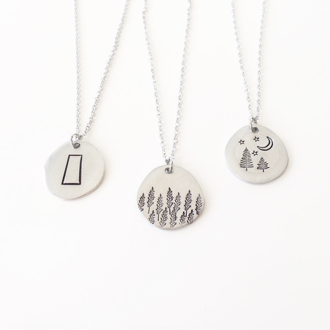 Small Sask Themed Pendant Necklaces