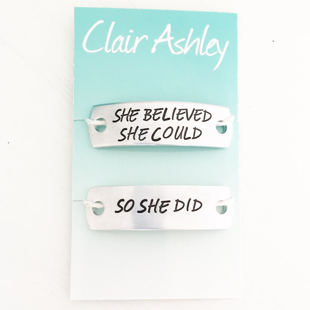 Running Mates Shoe Tags™ She Believed She Could