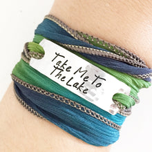 Load image into Gallery viewer, Take Me To The Lake Silk Wrap Bracelet WC13