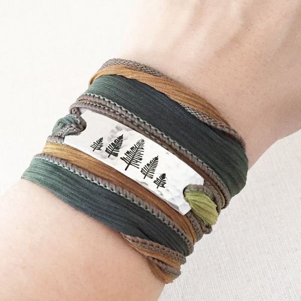 Evergreen Boho Wrap Bracelet